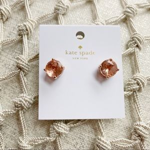 Kate Spade NWT Rose Pink Delicate Stud Earrings